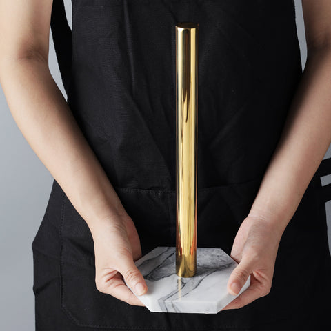 Marble and Gold Paper Towel Holder