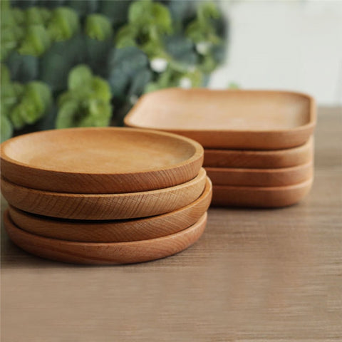 Japanese style wooden plates.