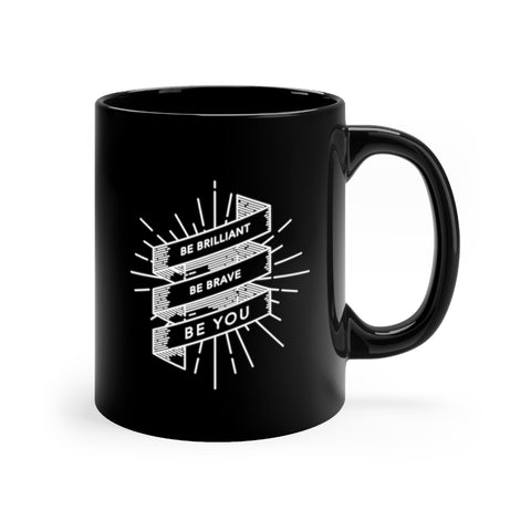 BRAVE Collection Black mug 11oz