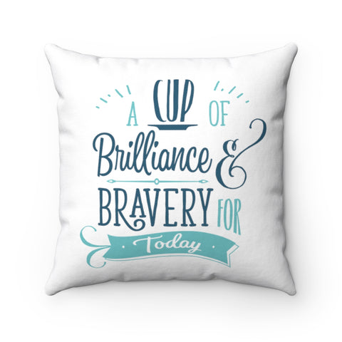 "BRAVE Collection ""Cup Of Brilliance"" Spun Polyester Square Pillow"