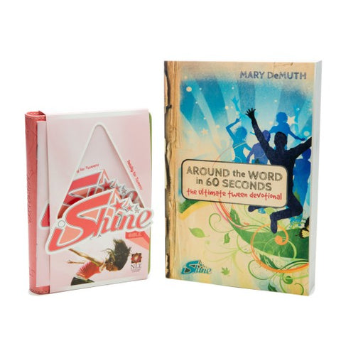 Boys iShine Interactive Bible (NLT version) + Devotional Book Combo