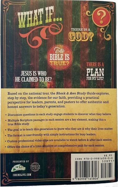 Shock & Awe Study Guide Group Study Pack Youth Ministry Church Apologetics