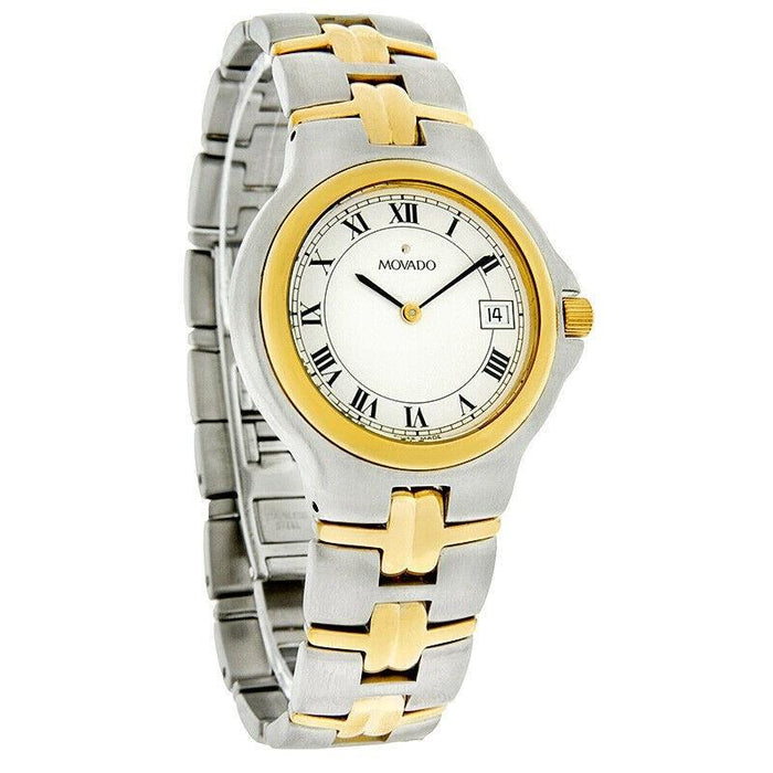 Movado Olympian Quartz Two-Tone Stainless Steel Watch 0602550