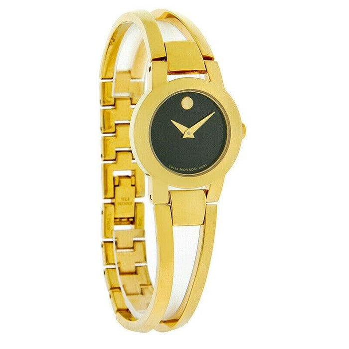 Movado Amorosa Quartz Gold-Tone Stainless Steel Watch 0604758