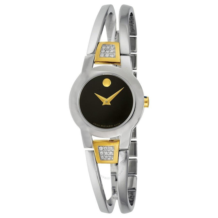 Movado Amorosa Quartz Dot Two-Tone Stainless Steel Bangle with Sets of Diamond Watch 0604983