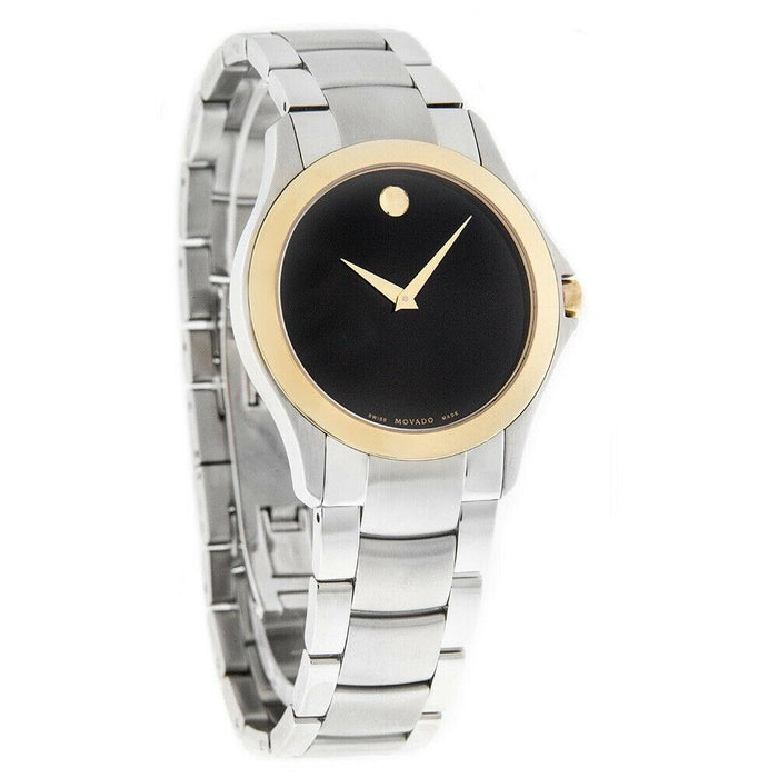 Movado Military Quartz Stainless Steel Watch 0605871