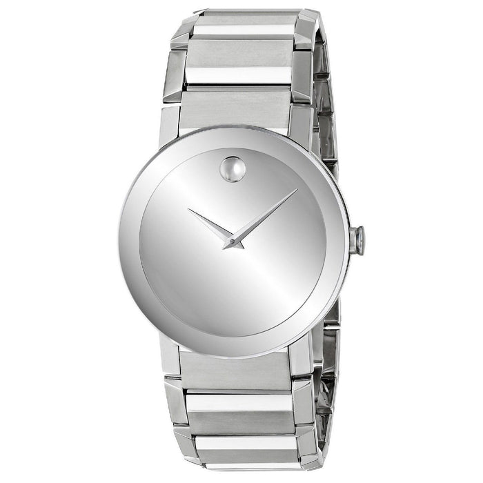 Movado Sapphire Quartz Stainless Steel Watch 0606093