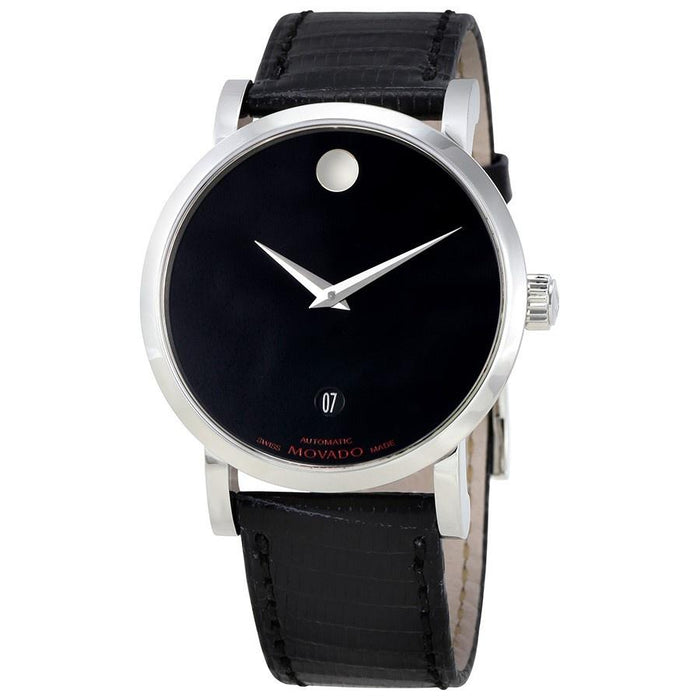 Movado Red Label Automatic Automatic Black Leather Watch 0606114