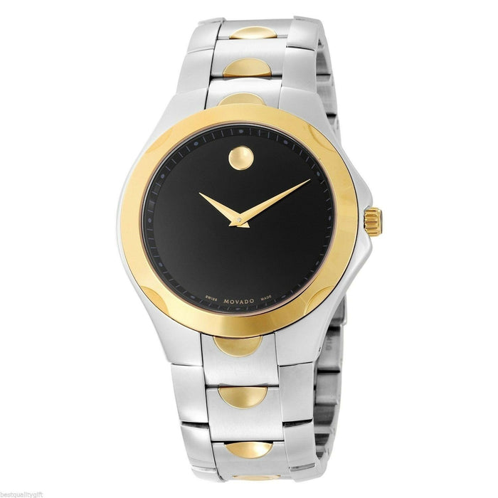 Movado Luno Quartz Two-Tone Stainless Steel Watch 0606381