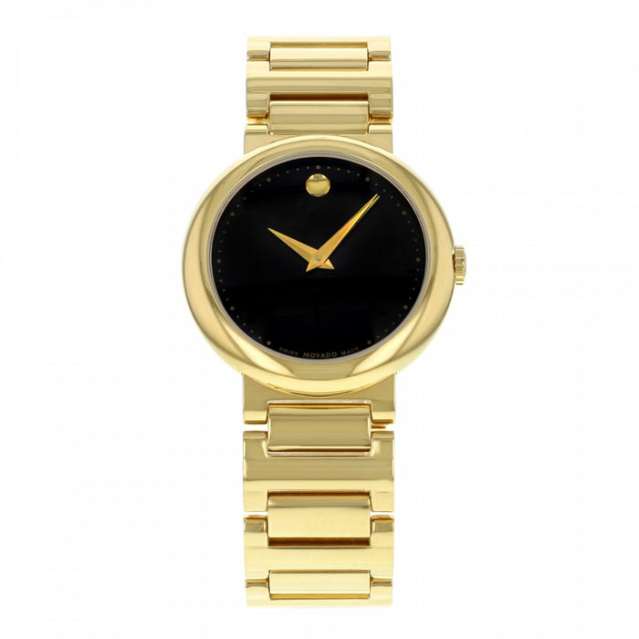Movado Concerto Quartz Gold-Tone Stainless Steel Watch 0606420