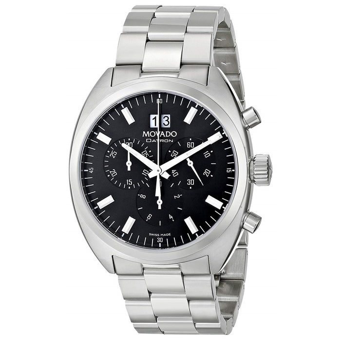 Movado Datron Quartz Chronograph Stainless Steel Watch 0606476
