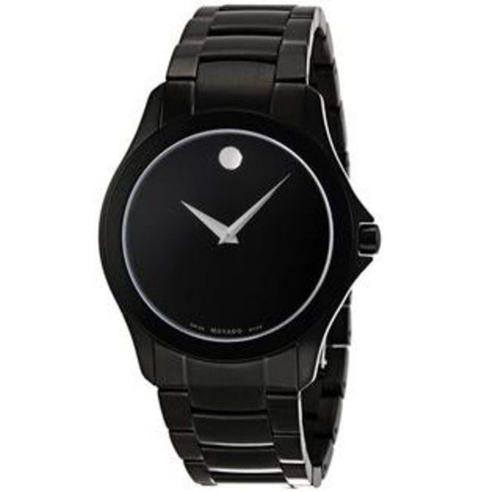 Movado Museum Quartz Black Stainless Steel Watch 0606486
