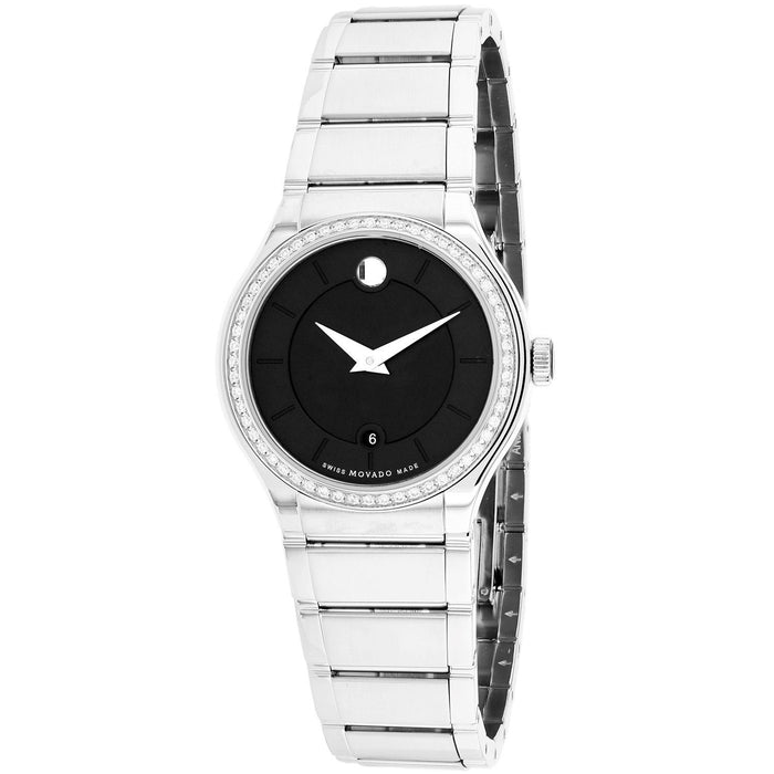 Movado Quadro Quartz Diamond Stainless Steel Watch 0606495
