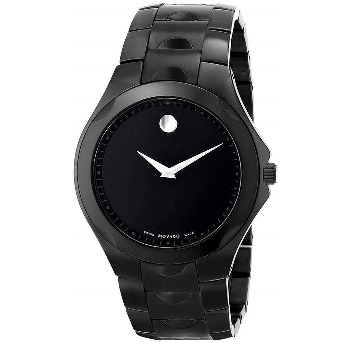 Movado Luno Quartz Black Stainless Steel Watch 0606536