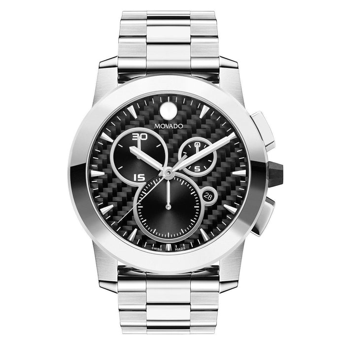Movado Vizio Quartz Chronograph Stainless Steel Watch 0606551