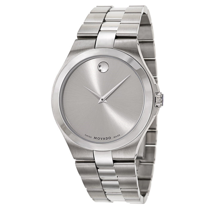 Movado Serio Quartz Stainless Steel Watch 0606556