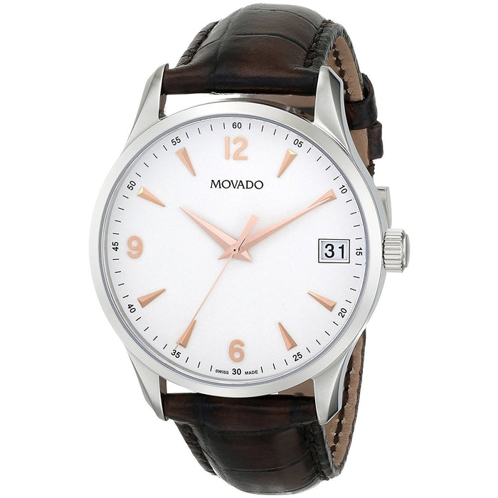 Movado Circa Quartz Brown Leather Watch 0606570