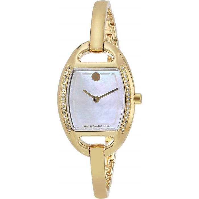 Movado Miri Quartz Gold-Tone Stainless Steel Watch 0606609