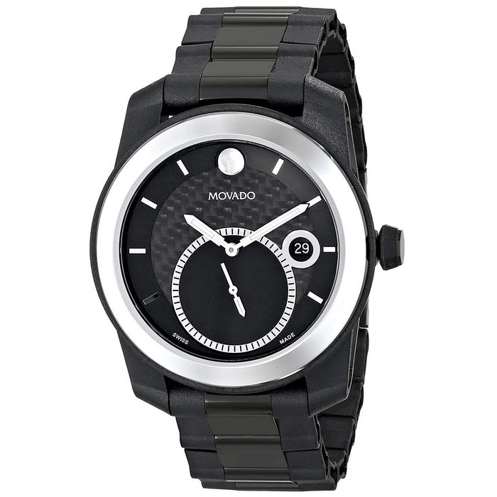 Movado Vizio Quartz Black Stainless Steel Watch 0606614