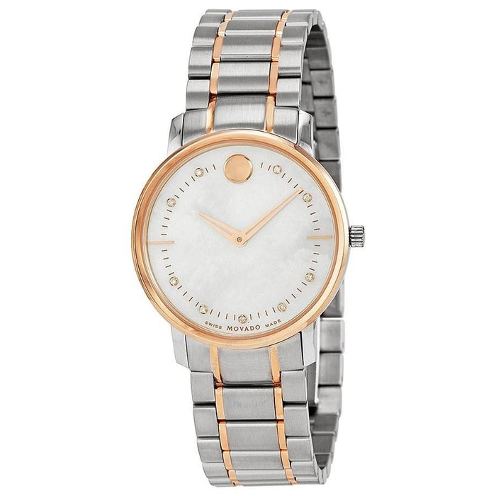 Movado TC Quartz Two-Tone Stainless Steel Watch 0606692