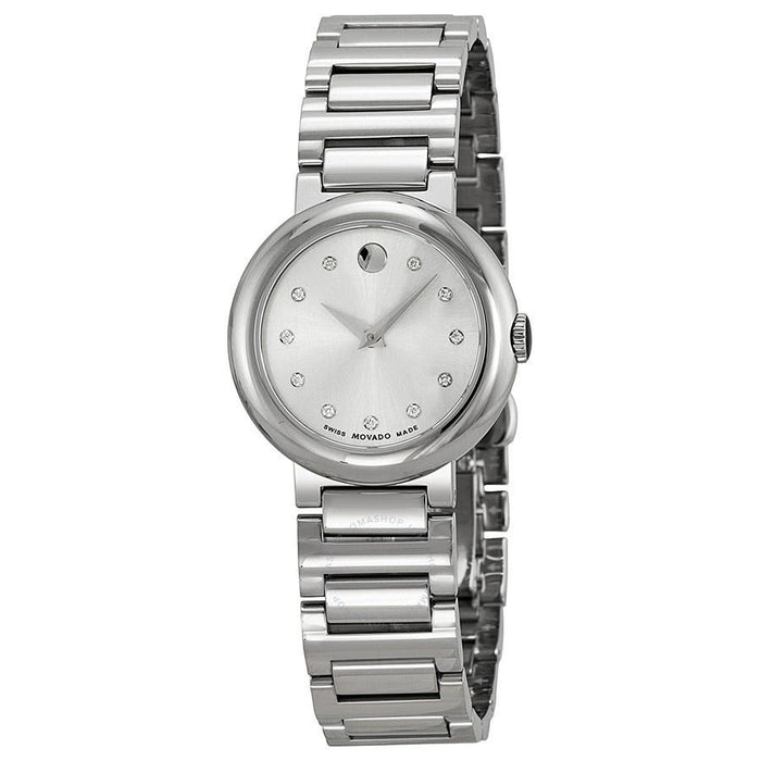 Movado Concerto Quartz Diamond Stainless Steel Watch 0606789