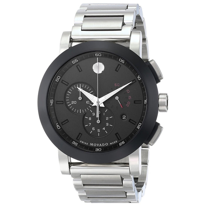 Movado Museum Sport Quartz Chronograph Stainless Steel Watch 0606792