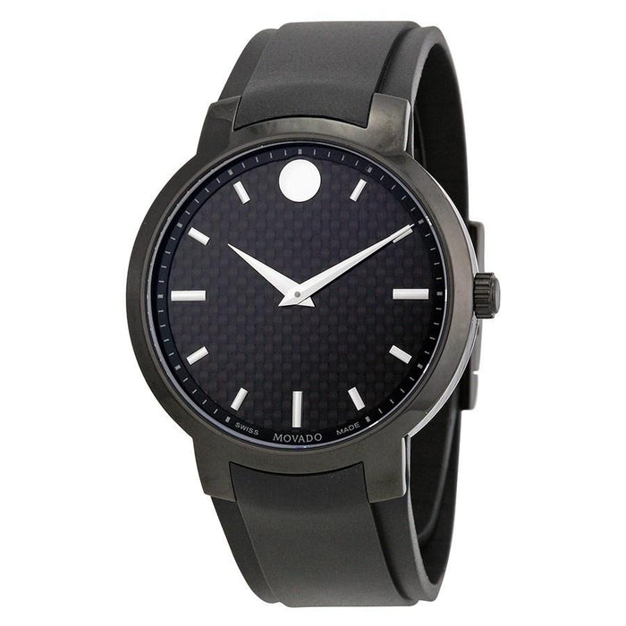 Movado Gravity Quartz Black Stainless Steel Watch 0606849