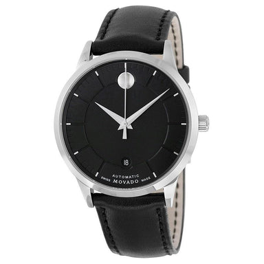 Movado 1881 Automatic Automatic Black Leather Watch 0606873