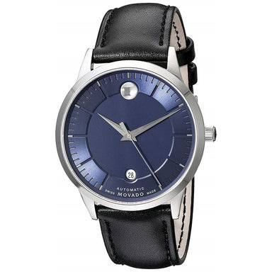Movado 1881 Automatic Automatic Black Leather Watch 0606874