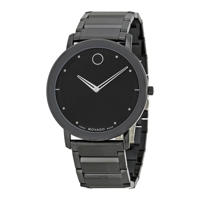 Movado Sapphire Quartz Black Stainless Steel Watch 0606882
