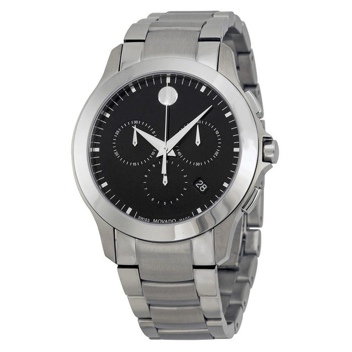 Movado Masino Quartz Chronograph Stainless Steel Watch 0606885