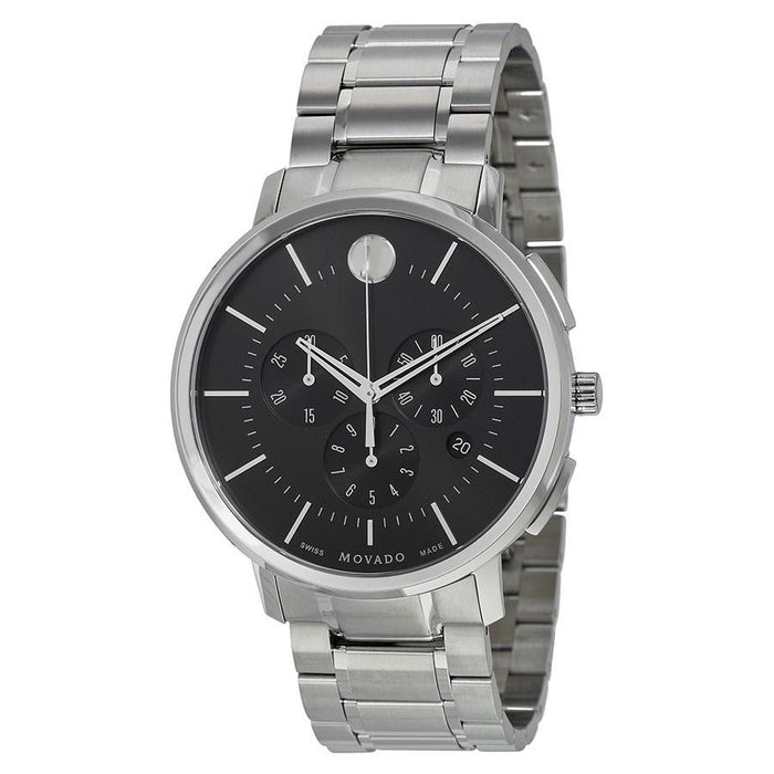 Movado Ultra Thin Quartz Chronograph Stainless Steel Watch 0606886