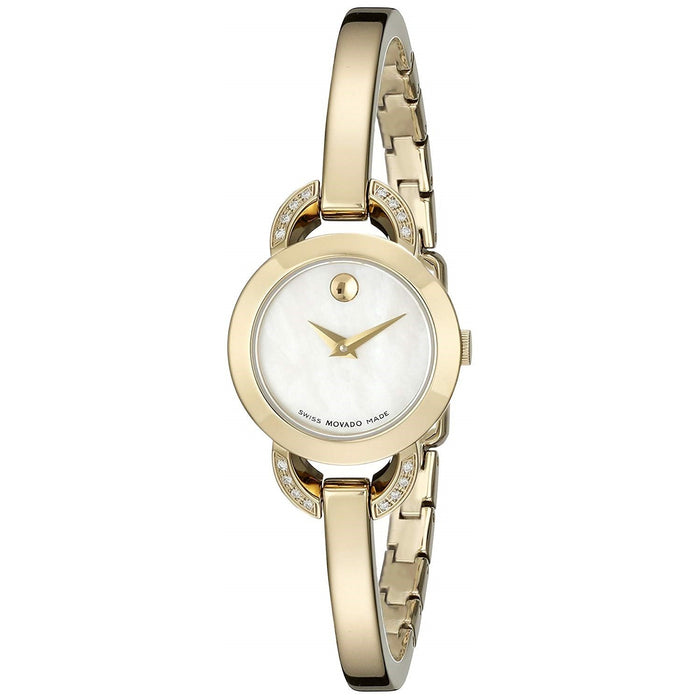 Movado Rondiro Quartz Diamond Gold-Tone Stainless Steel Watch 0606889