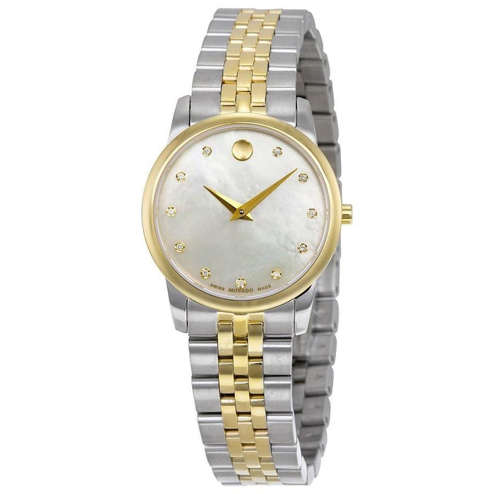 Movado Safiro Quartz Diamond Two-Tone Stainless Steel Watch 0606900