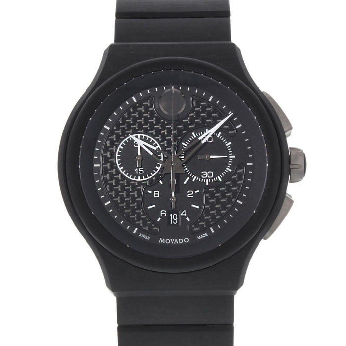 Movado Parlee Quartz Chronograph Black Titanium and Peek Watch 0606929