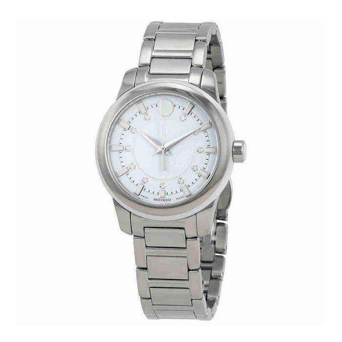 Movado Classic Quartz Diamond Stainless Steel Watch 0606943