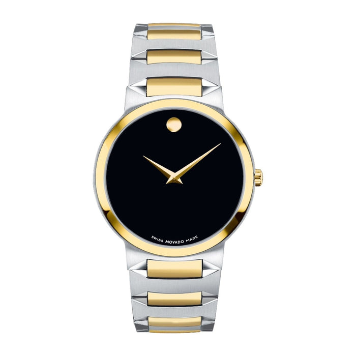 Movado Temo Quartz Two-Tone Stainless Steel Watch 0606952