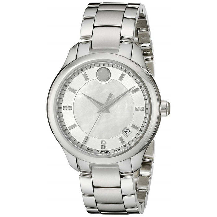 Movado Bellina Quartz Diamond Stainless Steel Watch 0606978