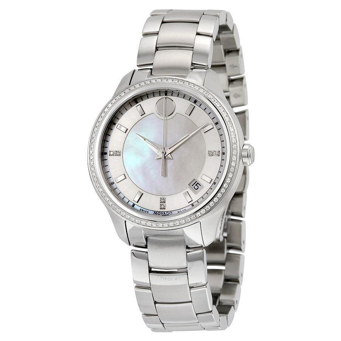 Movado Bellina Quartz Diamond Stainless Steel Watch 0606981