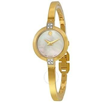 Movado Bela Quartz Dot Gold-Tone Stainless Steel Watch 0607000
