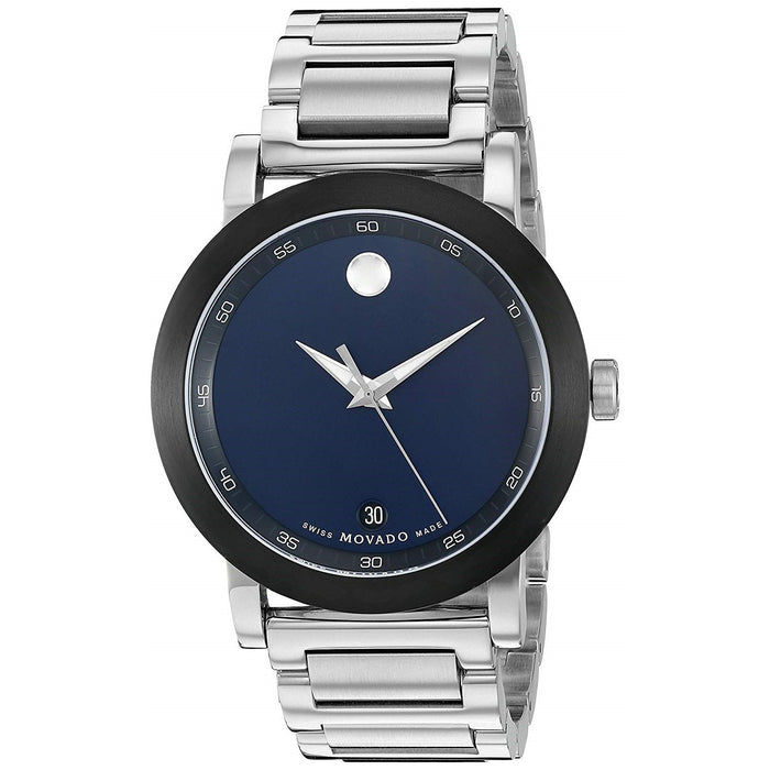 Movado Museum Sport Quartz Stainless Steel Watch 0607004