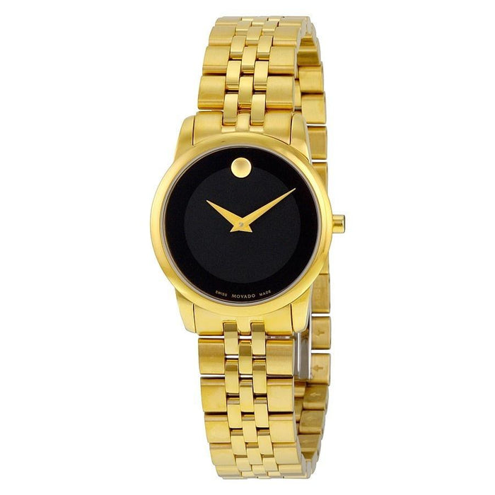 Movado Museum Quartz Gold-Tone Stainless Steel Watch 0607005