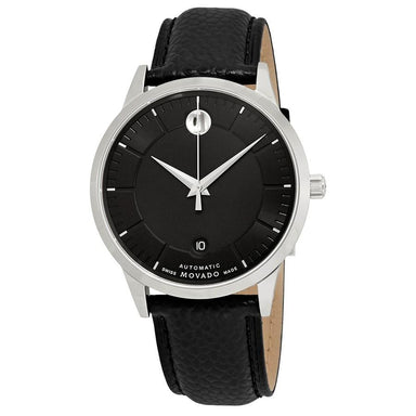 Movado 1881 Automatic Automatic Black Leather Watch 0607019