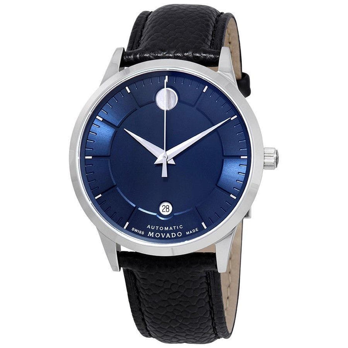 Movado 1881 Automatic Automatic Black Leather Watch 0607020