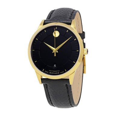 Movado 1881 Automatic Automatic Black Leather Watch 0607021