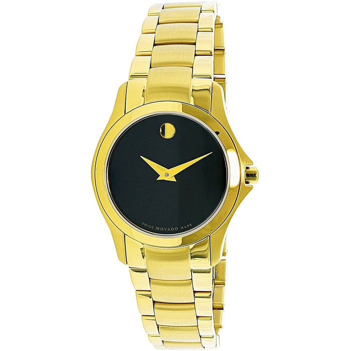 Movado Masino Quartz Gold-Tone Stainless Steel Watch 0607027
