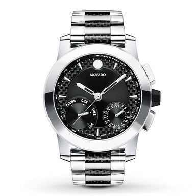 Movado Vizio Quartz Chronograph Two-Tone Stainless Steel and Carbon Fiber Accent Watch 0607030