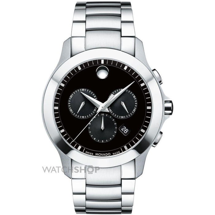 Movado Masino Quartz Chronograph Stainless Steel Watch 0607037