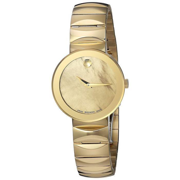 Movado Sapphire Quartz Gold-Tone Stainless Steel Watch 0607049