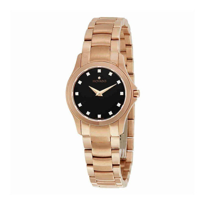 Movado Masion Quartz Diamond Rose-Tone Stainless Steel Watch 0607076
